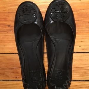 Tory Burch Minnie Travel Flats in Patent Leather